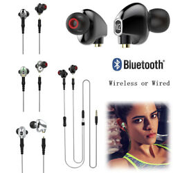 2-in-1 Wireless Bluetooth Headphones Hifi Wired Earphones Noise Cancelling