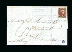 Us Stamp Used Vf S2 On Cover To Canada Tied Red Cancel And Matching Cleveland Cn