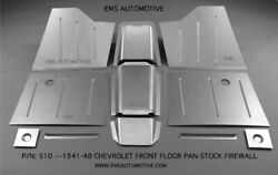 Chevy Car Front Floor Pan Kit For Stock Firewall 1941-1948 Ems 510