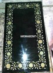 Marble Dining Table Top Floral Marquetry Inlay Interior Handmade Home Deco H3225