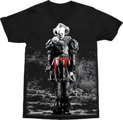 New Men's Stephen King IT Chapter Two Pennywise The Evil Clown Movie T-Shirt XL