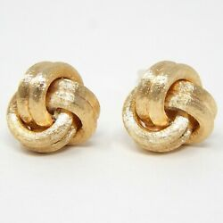 14 K Solid Yellow Gold Pair Algerian Knot Whale Back Cuff Links Cufflinks A7490