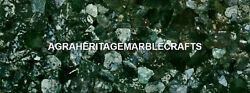 Marble Outdoor & Gardening Table Green Moss Agate Precious Stones Decor H5611