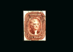 Us Stamp Used, Vf S12 light Cancel, Good Color, Pf Certificate