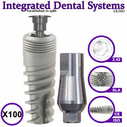 X100 Spiral Dental Implant And Standard Abutment Iso/ce Internal Hexagon System