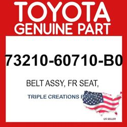 Toyota Genuine 7321060710b0 Belt Assy Front Seat Outer Rh 73210-60710-b0