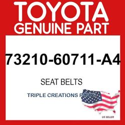 Toyota Genuine 7321060711a4 Belt Assy Front Seat Outer Rh 73210-60711-a4