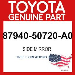 Toyota Genuine 8794050720a0 Mirror Assy Outer Rear View Lh 87940-50720-a0
