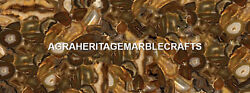 Marble Conference Table Brown Agate Precious Stone Work Living Room Decor H5603