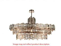21 Light Down Chandelier With Champagne Finish