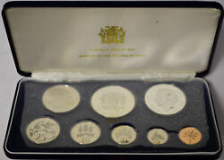 Jamaica 1974 8 Coin 2 Silver Proof Set Case Coa As Issued Henry Morgan