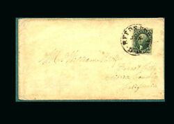 Us Stamp Used, Vf S15 1856 Corner Notation, Tied By Reed's Ferry,nh Pmk., Addr