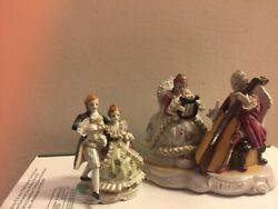 Vintage Victorian/colonial Figurines Made In Occupied Japan