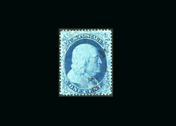 Us Stamp Used, Xf S22 Very Light Cancel, Very Deep Blue Color