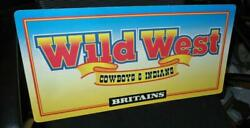 1990s Britains Wild West Cowboys And Indians 2 Sided Cardboard Dealers Sign