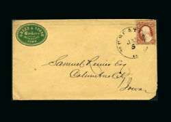 Us Stamp Used, Fine S25 iowa Advertising Cover