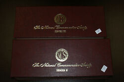 85 National Commemorative Society Sterling Silver Proof Medals Serie Ii Iii