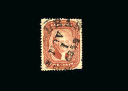 Us Stamp Used, Vf S28 B S.o.n. Nov.1,1858 New Orleans Cancel, Perf Fault At Bot
