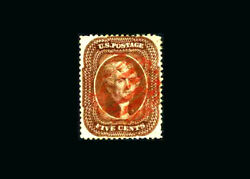 Us Stamp Used, Xf S30 Gem In Appearance With A Lovely Red Cancel, But Has Small