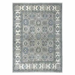 8and039x11and0393 Gray Hand-knotted Peshawar With Karjihooz Design Oriental Rug R51218