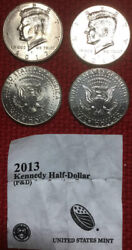 2013 Pandd Kennedy Half Dollar Two Coin Set Uncirculated From Us Mint Rolls