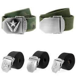 Men Fashion Outdoor Sports Waistband Canvas Adjustable Casual Waist Belt Gift