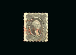 Us Stamp Used, Vf/xf S37a very Light Red Paid Cancel, Very Bold Fresh Color.pi
