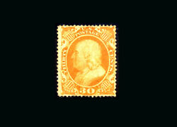 Us Stamp Mint Vf S38 Very Lightly Hinged One Reinforced Perf At Left