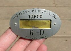 Ww2 Thompson Products Tapco Manufacturer Id Identification Employee Badge Pin