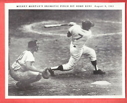 8/4/ 1963 Requena Mickey Mantle Home Run 8 X 10 Glossy Type 1 Photo