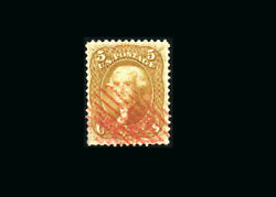 Us Stamp Used, Vf S67 attractive Red Cancel