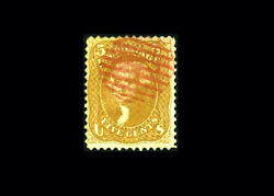 Us Stamp Used, F/vf S67 red Grid Cancel