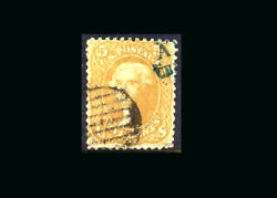 Us Stamp Used, F/vf S67 Both A Blue And A Fancy Cancel