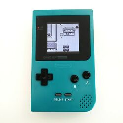 Teal Game Boy Pocket Gbp Console With 5 Segment Highlight Back Light Lcd Kit