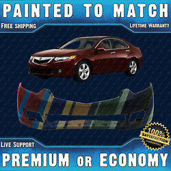 New Painted To Match - Front Bumper Cover For 2009 2010 Acura Tsx Sedan 09 10