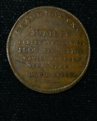 Great Britain 1809 25mm Copper Grand National Jubilee George Iii 30 Yr Reign