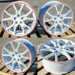 Ht1 18x8 5x114.3 +35 73.1 Gloss White Red Tip
