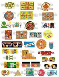 Vintage Fisher Price Little People ACCESSORY LITHOS Stickers YOU PICK Peel Stick