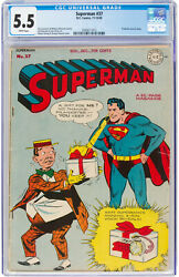 Superman 37 Cgc 5.5 Dc 1945 Prankster Cover White Pages Action K10 212 1 Cm