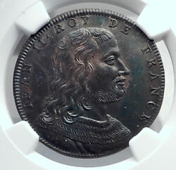 1830 France Antique French Medal W King Jean Ii Louis Philippe Time Ngc I81269