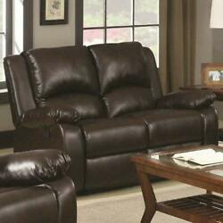 Coaster Home Furnishings Boston Double Motion Loveseat Two Tone Brown