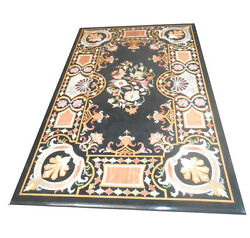 48 X 24 Marble Dining Table Top Inlay Handicraft Work For Home And Garden