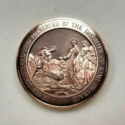 Baby Moses Discovered In Basket Bronze Medallion Thomason Medallic Bible