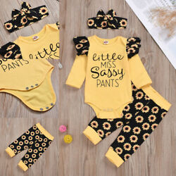 Newborn Baby Girls Clothes Romper Jumpsuit Leggings Pants Outfits Christmas Gift