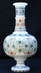 11 Marble Flower Vase Malachite Micro Mosaic Inlay Work Collectible And Gifts