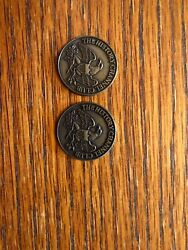 2 1776 The History Channel Club Medal Coins Commemorative Tokens