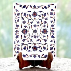 9x6 Indian Marble Inlay Plate Lapis Arts Home Furniture Decorative Gifts H4607