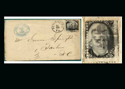 Us Stamp Used, F/vf S93 Misperfed, Shows Next Stamp At Right With No Perfs.btwn