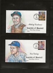 2000 Set Of 20 Legends Of Baseball Fdc Covers By Collins Hand Painted.