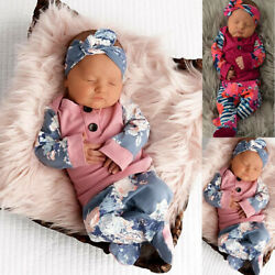 Newborn Infant Baby Girl Tops T-Shirt Long Pants Clothes Outfits Christmas Gift